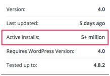 veilige wordpress plugins, actieve installaties