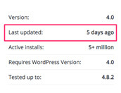 veilige wordpress plugins, update