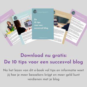10 tips voor een succesvol blog e-book