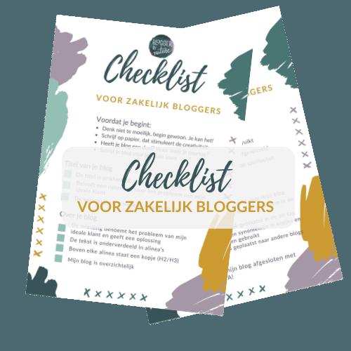 Checklist voor zakelijk bloggers