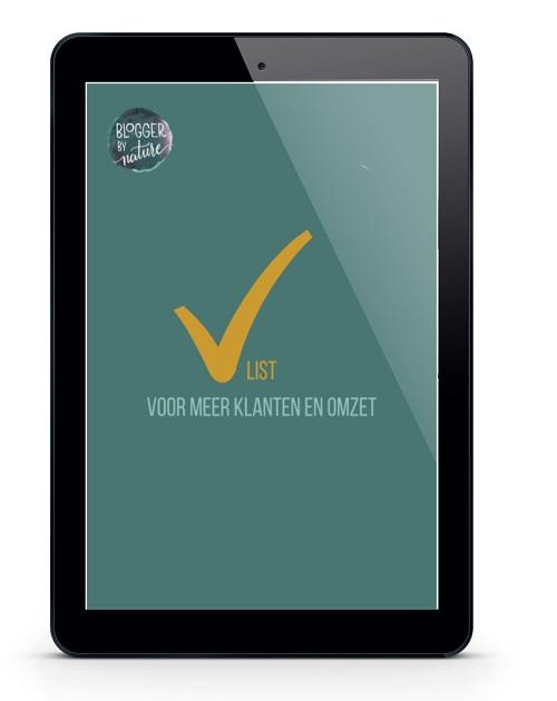 gratis checklist voor meer klanten en omzet